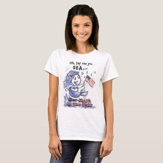 Sirène dans le T-shirt de la femme des Etats-Unis