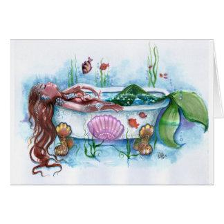 Sirène dans une baignoire cartes
