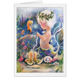 Sirène de bébé avec la carte de perles