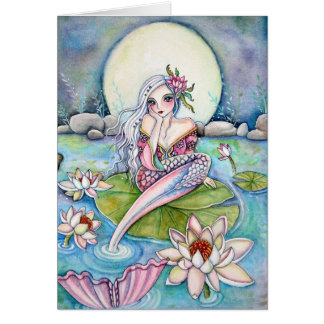 Sirène de nénuphar - carte de note