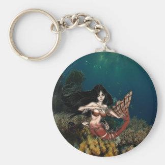 Sirène de Tigerfish par RyuNelo-artz Porte-clé Rond