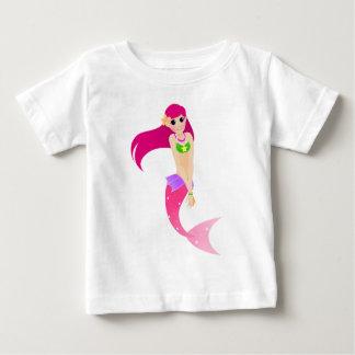 Sirène rose t-shirt pour bébé