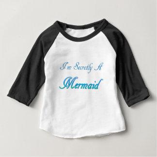 Sirène secrète t-shirt pour bébé
