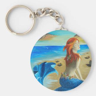 Sirène - sirène porte-clé rond