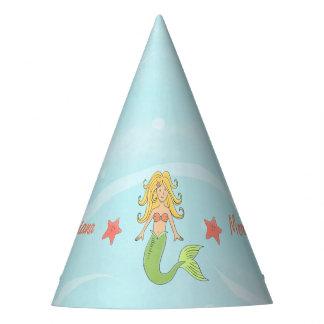 Sirène sous le chapeau de partie de papier de mer
