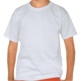 Sirène sur les rayures lumineuses d'arc-en-ciel t-shirt