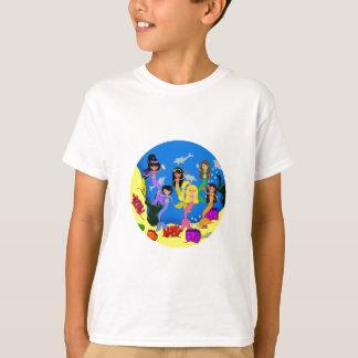 Sirènes dans l'océan avec le T-shirt de dauphins