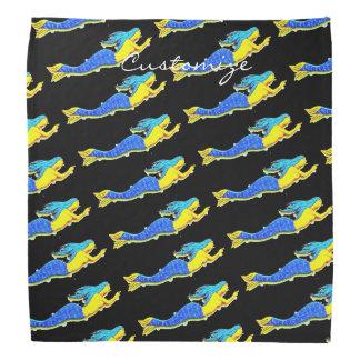 sirènes de bleu-queue de natation blanches bandana