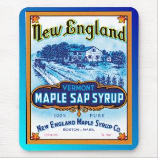 Sirop d'érable de la Nouvelle Angleterre Vermont Tapis De Souris