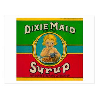 Sirop LabelCairo, GA de domestique de Dixie Carte Postale