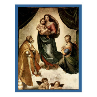 """Sistine classique Madonna"" de Raphael (circa Cartes Postales"