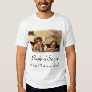Sistine Madonna, détail d'anges par Raphael T-shirts