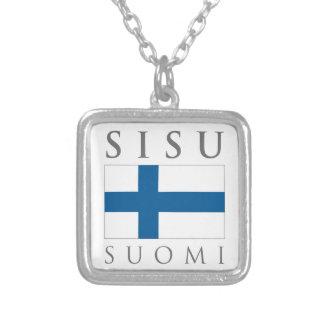 Sisu Suomi Pendentif Carré