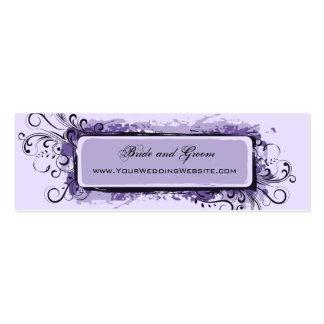 Site Web floral abstrait de mariage de pourpre Cartes De Visite Personnelles