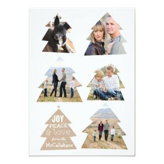 Six cartes modernes de vacances de photo des carton d'invitation  12,7 cm x 17,78 cm