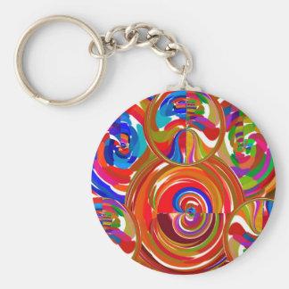 Six cercles de sigma - la thérapie de couleur de porte-clé rond