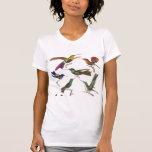 Six colibris colorés - avant et dos t-shirts