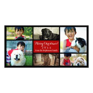 Six collages de photo de Joyeux Noël de PICS de Photocartes Personnalisées