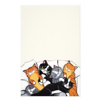 Six papeterie de papier de note de chats de sommei papier à lettre personnalisé