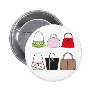 Six petits boutons de bourses badges