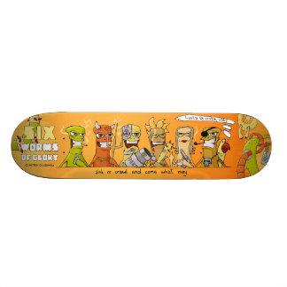 Six vers de planche à roulettes de gloire : bébé mini skateboard 18,4 cm
