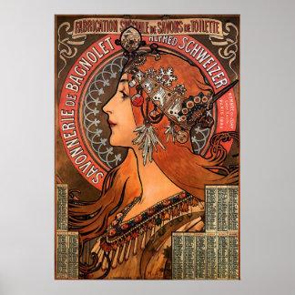 SIZE-ALPHONSE SUPERBE MARIA MUCHA-SAVONNERIE de BA Posters