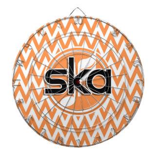 Ska ; Chevron orange et blanc Jeu De Fléchettes