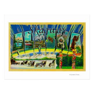 Skagway, Alaska - grandes scènes de lettre Carte Postale