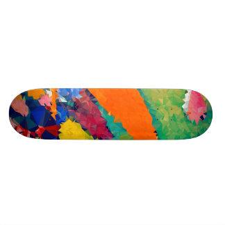 Skateboard 19,7 Cm Bas poly rouge et le bleu fait de la planche à
