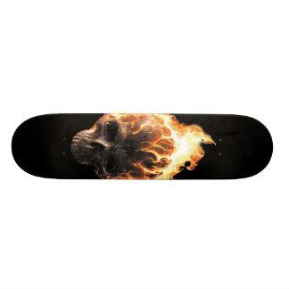Skateboard 19,7 Cm Planche à roulettes flamboyante de crâne