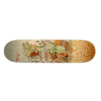 Skateboard 20,6 Cm Planche à roulettes d'hiver d'Alfons Mucha