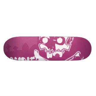 Skateboard 20,6 Cm Planche à roulettes rose de crâne de zombi