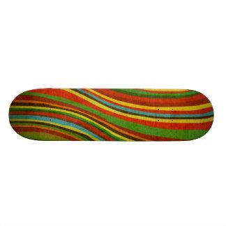 Skateboard 20,6 Cm planche à roulettes vintage de texture de vague