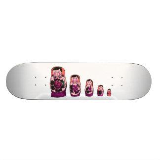 Skateboard 20,6 Cm Poupées russes rouges d'emboîtement