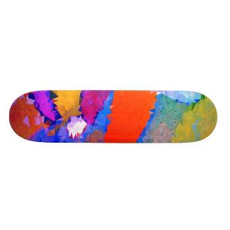 Skateboard 20 Cm Bas poly rouge et le bleu fait de la planche à