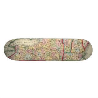 Skateboard 20 Cm Carte du comté des états de New York