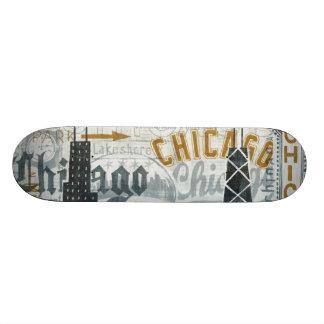 Skateboard 21,6 Cm Hé cru de Chicago