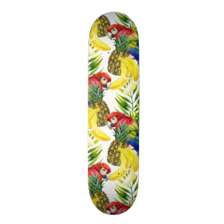 Skateboard 21,6 Cm Perroquets et fruit tropical