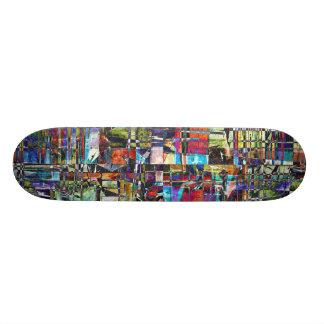 Skateboard Composé chaotique coloré
