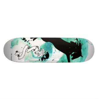 Skateboard Customisable Cheval de couleur d'eau - planche à roulettes