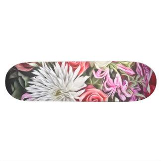 Skateboard Customisable Fleurs rêveuses 1