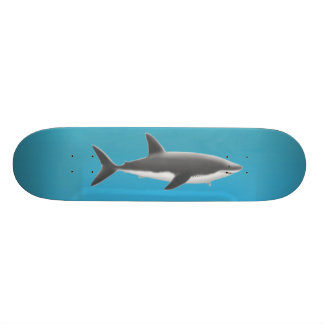 Skateboard Customisable Grande planche à roulettes de requin blanc