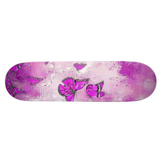 Skateboard Customisable Papillons adorables, roses