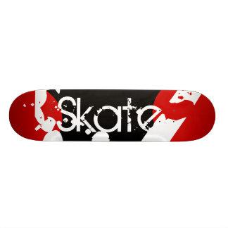 Skateboard Customisable Planche à roulettes rouge, noire et blanche de