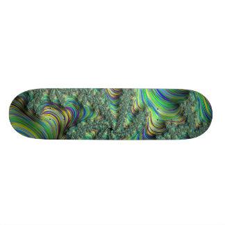 Skateboard Fractale colorée