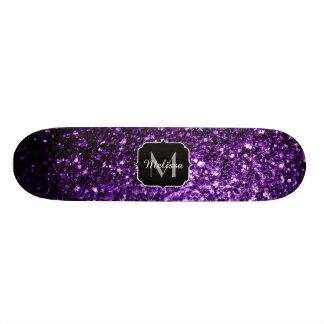 Skateboard Les belles parties scintillantes pourpres foncées