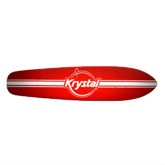 Skateboard Logo de Krystal avec la planche à roulettes de