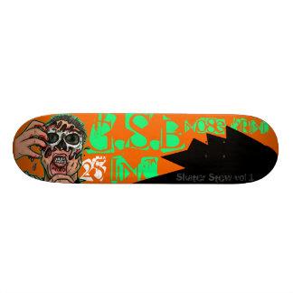 Skateboard logo sportif d'habillement de planche à roulettes