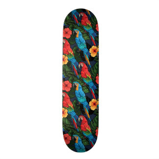 Skateboard Motif d'ara et de ketmie