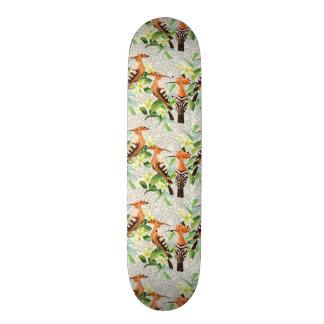 Skateboard Oiseaux exotiques sur la dentelle